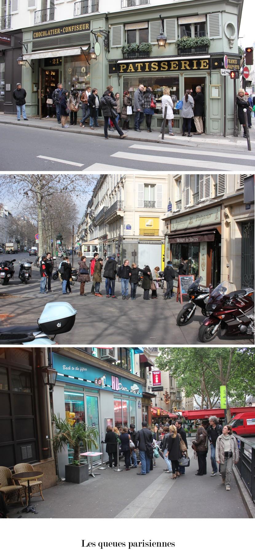 Les queues parisiennes
