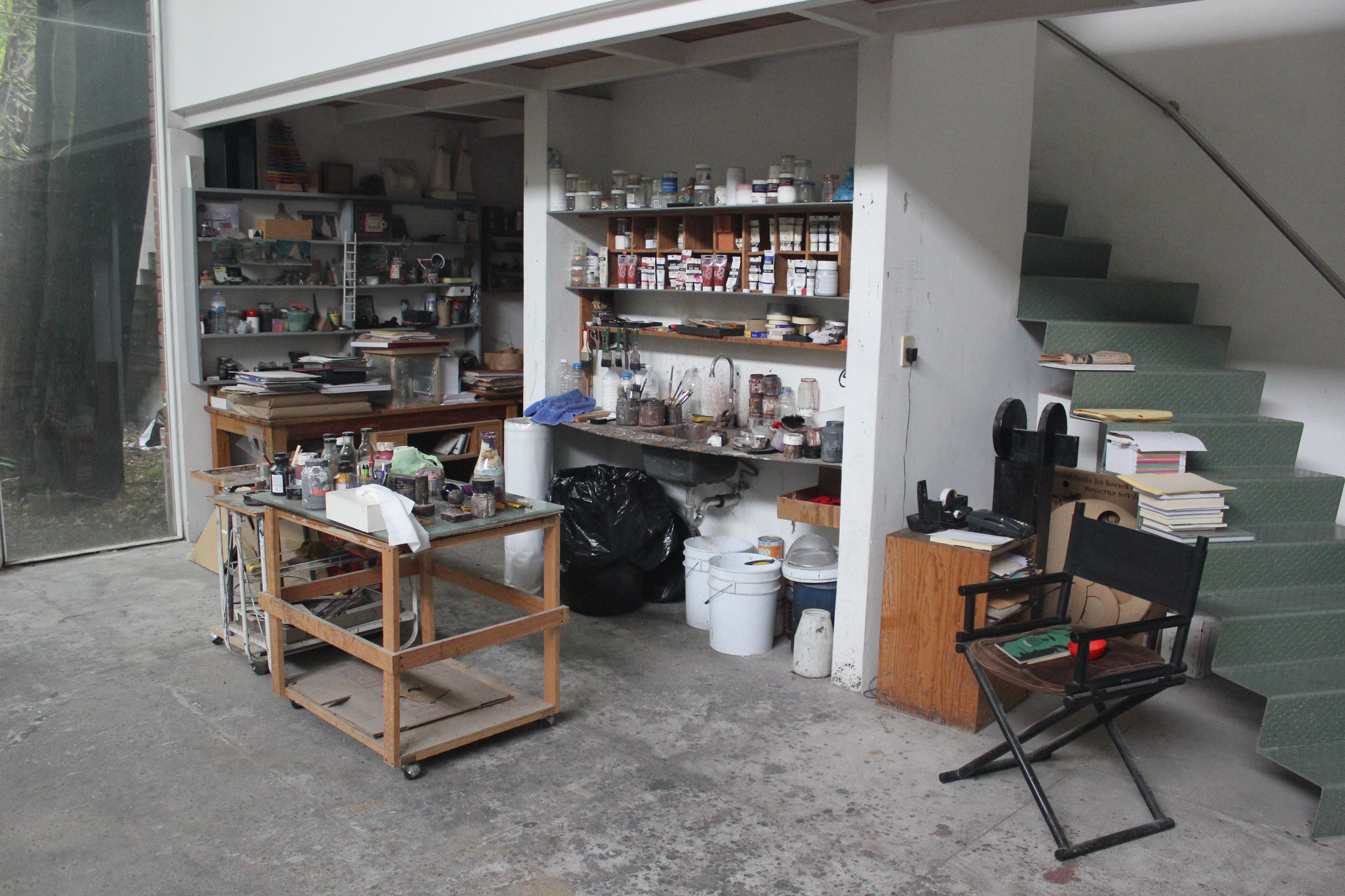 Perspectiva del taller de Vicente Rojo. Foto: Emilio Alvarez
