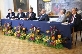 Arq. Emilio Alvarez Abouchard, Lic. Guillermo Guzmán Fuentes, Arturo Herrera Cornejo, Francisco López Guido, Lic. Maco Antonio Aguilar Cortés, Dr. Ramón Alonso Pérez Escutia