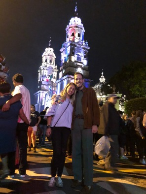 Alumbrado de la Catedral de Morelia con Karen